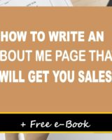How To Write An About Me Page That Will Get You Sales